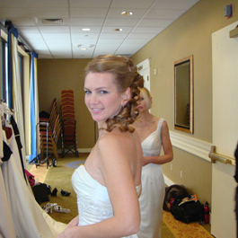 Bride with Styled Hair