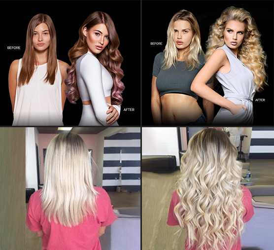 Ladies with Hair Extensions